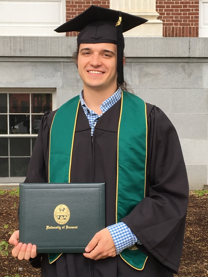 Adam shortly after graduation