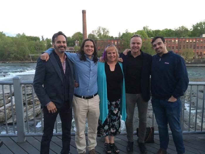 At the Waterworks restaurant in Winooski -- Mark, Adam, Judy, John and Wes