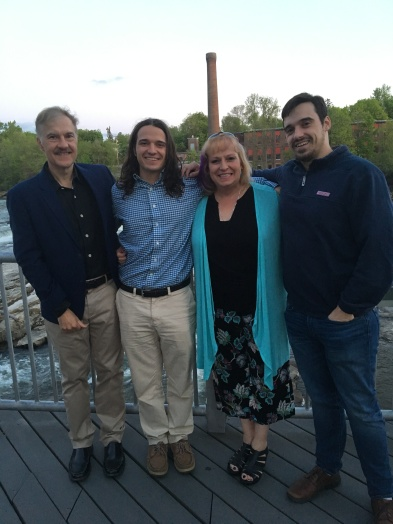Mike, Adam, Judy and Wes at Waterworks in Winooski
