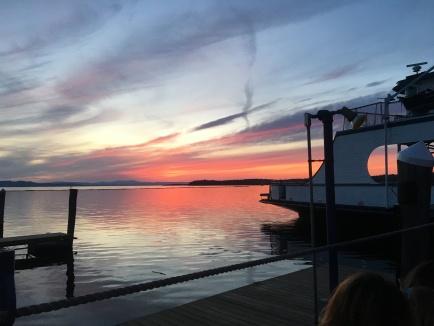 Lake Champlain at night